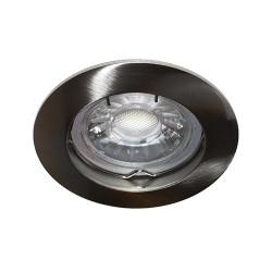 Spot fixe Nickel satine GU10 max 50W (KSA100221) - INDIGO