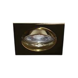 Spot orientable carré doré GU10 max 50W (LSA101201) - INDIGO