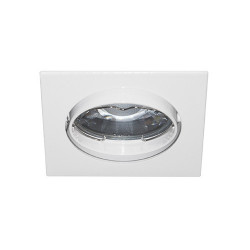 Spot orientable carré blanc GU10 max 50W (LSA101204) - INDIGO