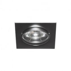Spot orientable carré noir chrome mat max 50W (LSA101209) - INDIGO