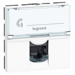 Prise RJ45 Mosaic cat. 6A STP 2 modules blanc (076576) - LEGRAND