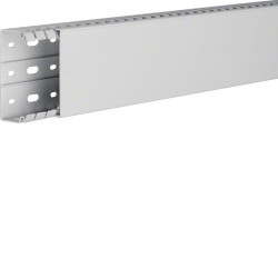 Goulotte de câblage sans halogène en PC-ABS beha-set l 80mm x p 40mm gris clair (HA740080) - HAGER