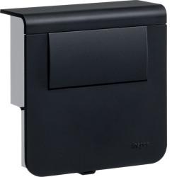 Support d'appareillage équipé d'un tranfo LED 30W Noir (SL200809LED9011) - HAGER