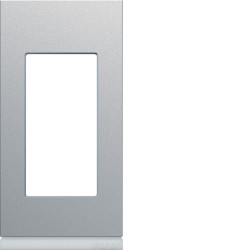 Plaque gallery plastique peint 1 module titane (WXP0101) - HAGER