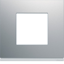 Plaque gallery plastique peint 1 poste titane (WXP0102) - HAGER