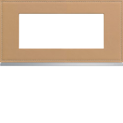Plaque gallery 5 modules entraxe 71mm matiere cord leather (WXP5105) - HAGER