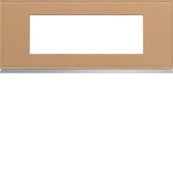 Plaque gallery 6 modules entraxe 57mm matiere cord leather (WXP5106) - HAGER