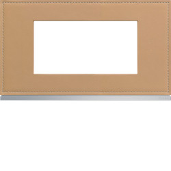 Plaque gallery 4 modules entraxe 57mm matiere cord leather (WXP5134) - HAGER