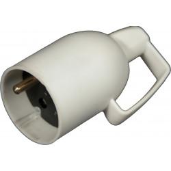 Prolongateur à coiffe avec anneau 16A 2P+T blanc