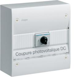 Coffret Gamma pour installation photovoltaique DC (GD113PVDC) - HAGER