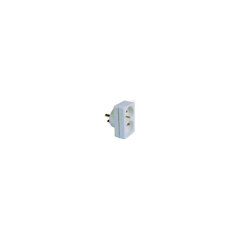 Adaptateur 2x16A - 20A - EUROHM