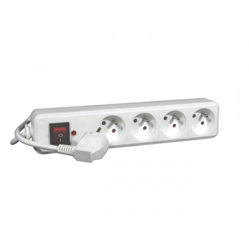 Bloc Multiprises 2P+T 16A Protection Disjoncteur Bipolaire - EUROHM