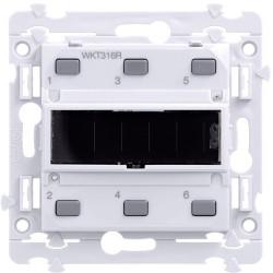 Kallysta poussoir KNX radio 6 entrées - alimentation solaire (WKT316R) - HAGER