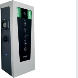 Witty borne de charge IP54 11-22kW 2xM3T2S M2TE RFID IP pour 2 VE (XEV601C) - HAGER