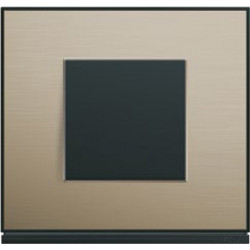 Interrupteur complet Gallery Placage bronze - HAGER