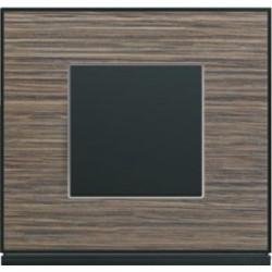 Interrupteur complet Gallery Placage bois pecan - HAGER
