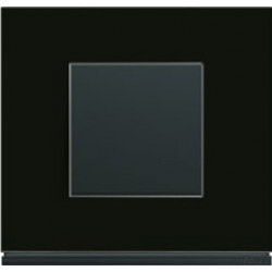 Interrupteur complet Gallery Matiere midnight glass - HAGER