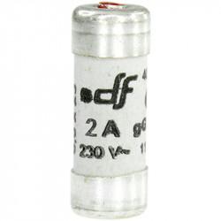 Fusible 2A gF 8,5x23 à voyant (27202) - EUROHM