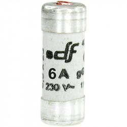 Fusible 6A gF 8,5x23 à voyant (27206) - EUROHM
