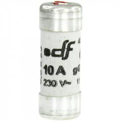 Fusible 10A gF 8,5x23 à voyant (27210) - EUROHM