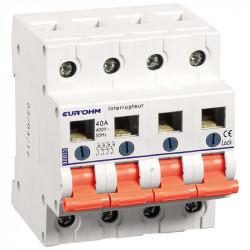 Interrupteur Sectionneur 4P 40A AC22A (30013) - EUROHM