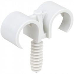Double clips de tube avec cheville diamètre 20mm (43436) - EUROHM