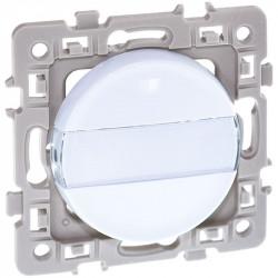 Bouton poussoir porte étiquettes blanc Square (60206) - EUROHM