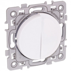 Double poussoir blanc Square (60211) - EUROHM