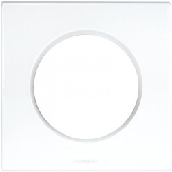 Lot de 50 plaques blanches 1 poste Square (60296) - EUROHM