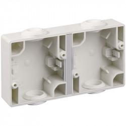 Boitier double horizontal blanc (60736) - EUROHM
