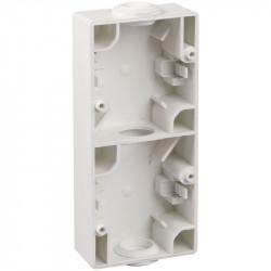 Boitier double vertical blanc (60737) - EUROHM