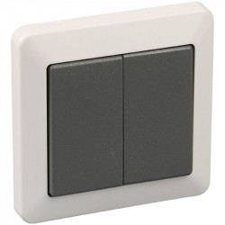 Double VV enc. IP44 gris (60751) - EUROHM