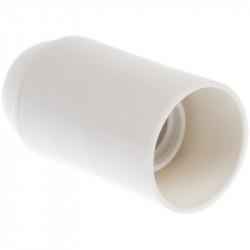 Douille E14 simple bague blanche (62130) - EUROHM