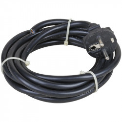 Cordon de 3 mètres 3x1.5 noir (63051) - EUROHM