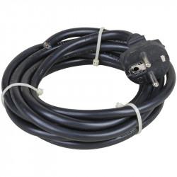 Cordon de 5 mètres 3x1.5 noir (63053) - EUROHM