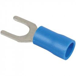 Cosse fourche 6mm 1,5 à 2,5mm2 bleu (70336) - EUROHM