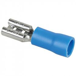Cosse femelle 6mm 1,5 à 2,5mm2 bleu (70356) - EUROHM
