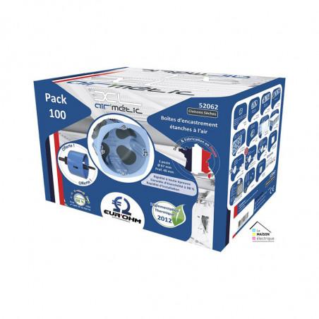 Pack de 100 boîtes XL AIR'métic d67 p40mm (52062) - EUROHM