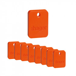 Pack de 10 badges (RLF110X) - HAGER