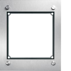 Cadre 1/1, inclus boîtier d'encastrement acier inoxydable mat (REM101X) - HAGER
