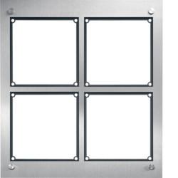 Cadre 4/2, inclus boîtier d'encastrement acier inoxydable mat (REM105X) - HAGER