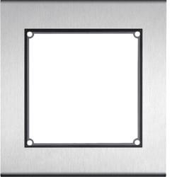 Cadre 1/1, inclus boîtier en saillie acier inoxydable mat (REM201X) - HAGER