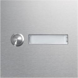 Module d'appel 1 bouton poussoir rond avec porte-nom LED (REN001X) - HAGER