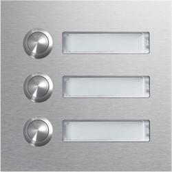 Module d'appel 3 boutons poussoirs rond avec porte-nom LED (REN003X) - HAGER