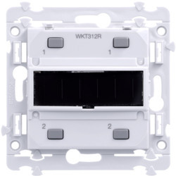 Kallysta poussoir KNX radio 2 entrées - alimentation solaire (WKT312R) - HAGER