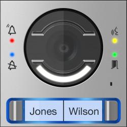 Façade pour module vidéo avec bouton double (62030050) - CAME
