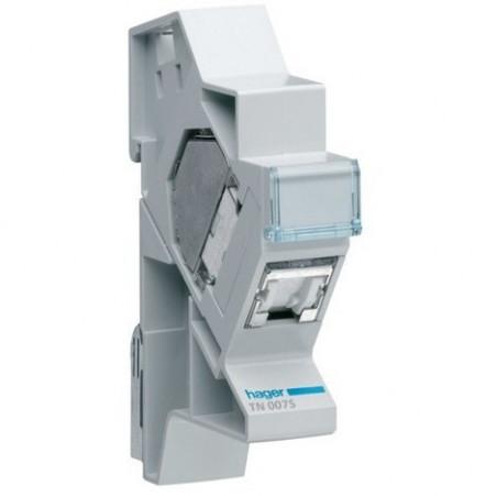 Connecteur RJ45 cat.6 + support modulaire pour grade 2TV (TN007S)