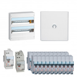 Offre coffret Drivia 18 modules 2 rangées (KIT18M2R) - LEGRAND