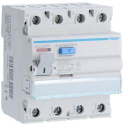 Inter dif 4P 25A 30mA AC 60Hz (HAG CDC427F) - HAGER
