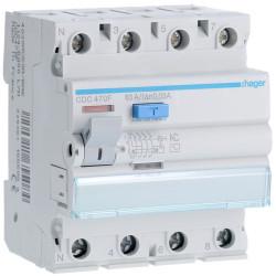 Inter dif 4P 63A 30mA AC 60Hz (HAG CDC470F) - HAGER